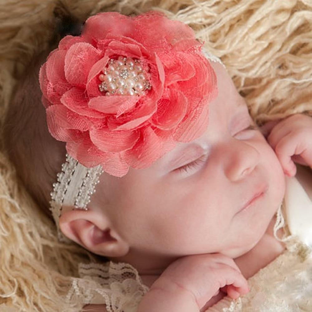 Lovely Hair Band Baby Girl Headbands Chiffon Hair Flower Type