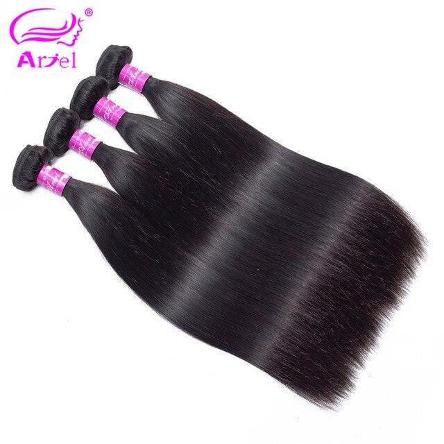 Ариэль сырья и индийские волосы прямые человеческих волос Инструменты для завивки волос Связки Natural Цвет 1/3/4 шт. 100 г -Реми бесплатная доставка