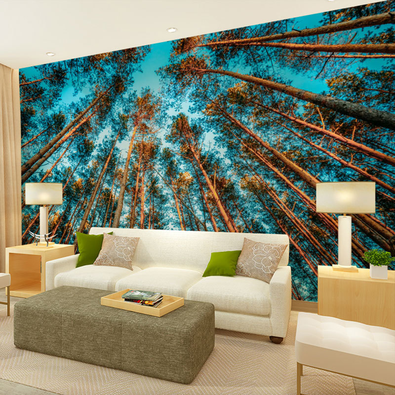 beibehang birch tree forest pattern nature scenery large ...