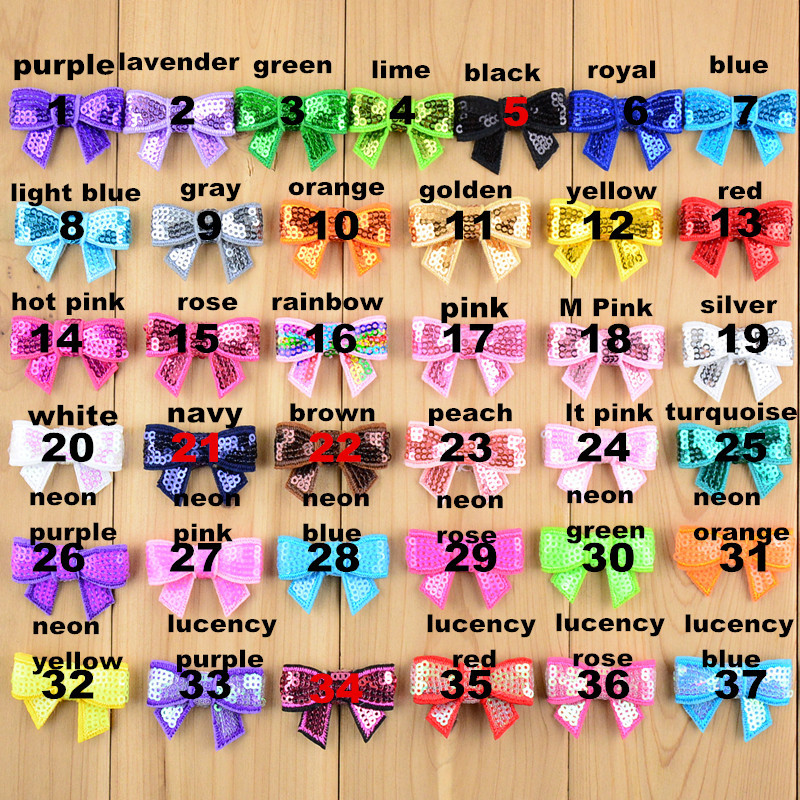 40pcs/lot in stock Hair Accessories 1.6in mini embroidery sequin bows for DIY headband boutique bow no clip HDJ39 halloween party zombie skull skeleton hand bone claw hairpin punk hair clip for women girl hair accessories headwear 1 pcs