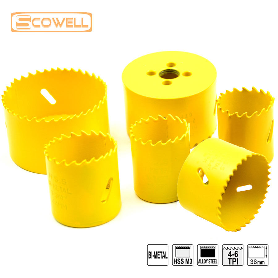 35%OFF Free Shipping:Bimetal M3 Size from 65mm to 140mm MetalWorking HoleSaw in Bulk,Hot sale HSS Hole Saw Cutter Without Arbor2 6pcs top quality holesaw kits for metal and wood cutter 32mm 76mm hss bi metal m3 hole saw in bulk woodworking holesaw kits
