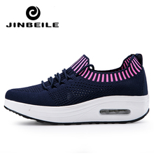 Latest 4.5 CM toning Wedge Shoes Lady Walking Sneakers women Body shaping Travel fitness slimming Swing sports shoes for female