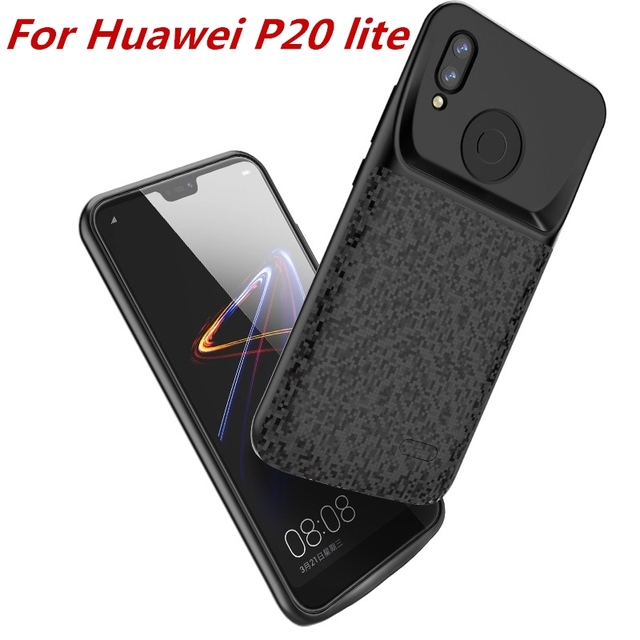 big sale e652a 55f98 US $16.9 40% OFF|For Huawei P20 lite Battery Case 4700 Mah External Battery  Backup Charger Cover Pack Power Bank For Huawei nova 3e Battery Case -in ...