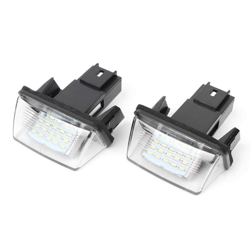 Diplomatic White Color 18-smd Led License Plate Light Lamp Replacement For Peugeot 206/207/307/308 Citroen C3/c4/c5/c6 To Replace Original Do You Want To Buy Some Chinese Native Produce? Signal Lamp