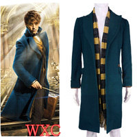 Newt Scamande Trench Cosplay Costume Trench Scarf Fantastic Beasts And Where To Find Them WXC