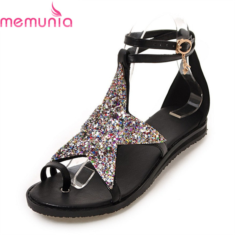 MEMUNIA new arrive top quality sweet Stars glitter women sandals summer shoes fashion leisure hot sale big size 34-43 memunia 2018 new arrive women slippers