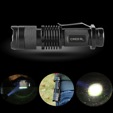 Mini ZOOM LED Flashlight 2000LM CREE Waterproof Lanterna LED 3 Modes Zoomable Torch  AA 14500 Battery Flash Pen Light