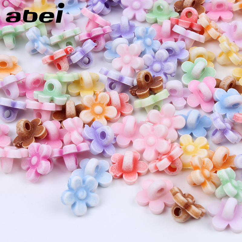 100pcs/lot <font><b>10mm</b></font> Cartoon Mini Resin Flower <font><b>Buttons</b></font> Sewing Tools Plastic <font><b>Button</b></font> for Dress Sweater Clothes Decoration Accessories image