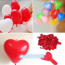 100pieces/lot 10inch 1.5g latex heart shaped multicolored balloon Christmas birthday wedding festival party decoration balloons