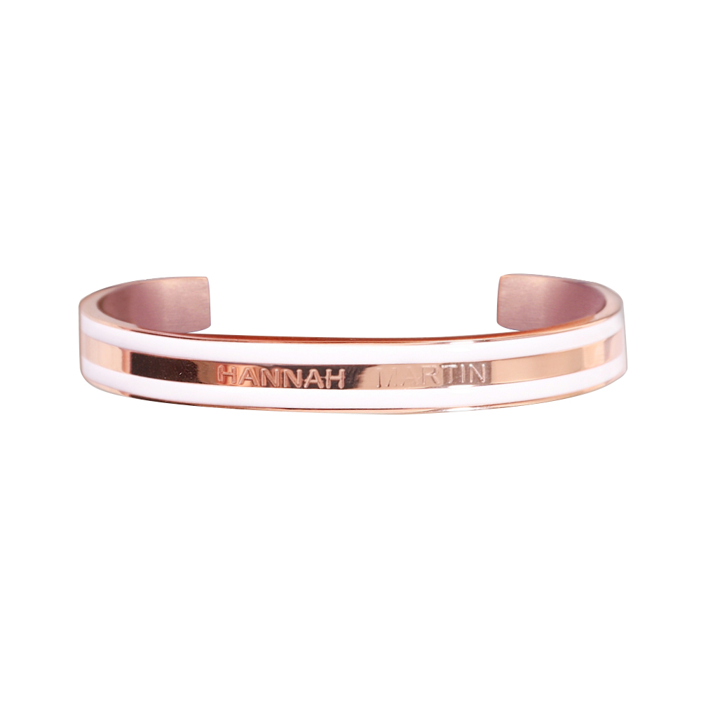 Treu Frauen Armband Hannah Martin Marke Mode Edelstahl Armband Kreis Kleid Weibliche Armreifen Schmuck Für Damen Sieraden Armreifen