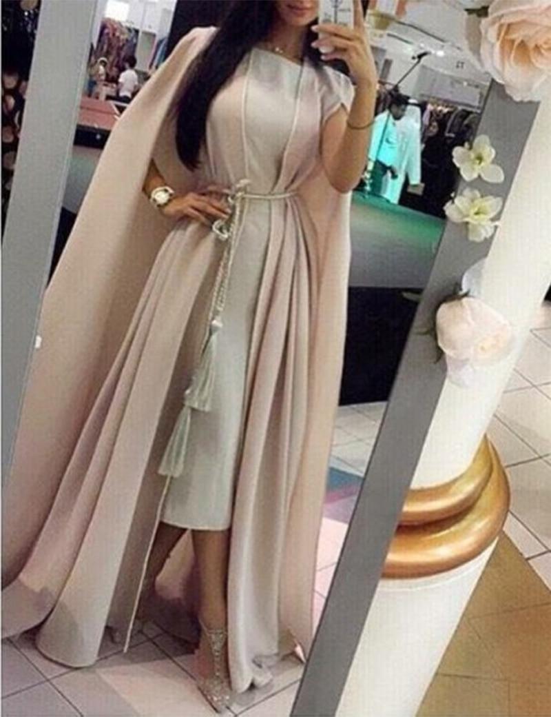2016 Arabic   Prom     Dresses   WIth Wrap Straight O Neck Waist Sase Floor Length Chiffon Vestido De Abaile