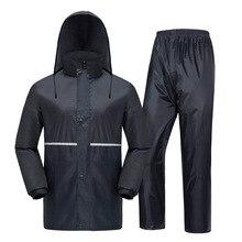 Chubasquero Impermeable para hombre y mujer, traje para lluvia, capucha para exteriores, Impermeable para pesca en motocicleta, Camping, ropa de lluvia, abrigo para hombre