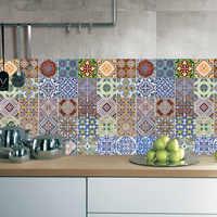 Adesivo de parede wallaper azulejo árabe do vintage adesivos quarto arte decalque para decoração casa removível