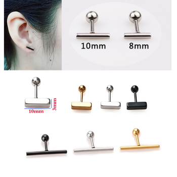 Fashion T shape stud earrings silver black ball screw stainless steel ear jewelry bar 16g for.jpg 350x350 - Fashion T shape stud earrings silver black ball screw stainless steel ear jewelry bar 16g for men women 1 pair free shipping