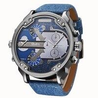 Famous Designer Mens Watches Top Brand Luxury Quartz Watch Oulm Leather Strap Big Face Military Quartz