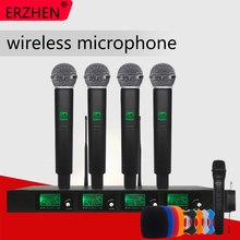 Professional wireless microphone Four-channel professional stage performance KTV conference lavalier
