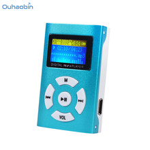 2017 HOT Popular Multicolor USB Mini MP3 Player LCD Screen Support 32GB Max Micro SD TF Card To Play Music Mp3 Player Oct3(China)