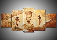 Ручной работы 5 шт. египетского современной абстрактные декоративные картины маслом на холсте стены Книги по искусству изображение для Гостиная