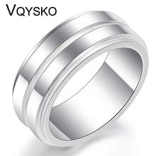 Fashion Thin Line titanium steel Ring High Quality Wedding Brand 8MM Stainless steel