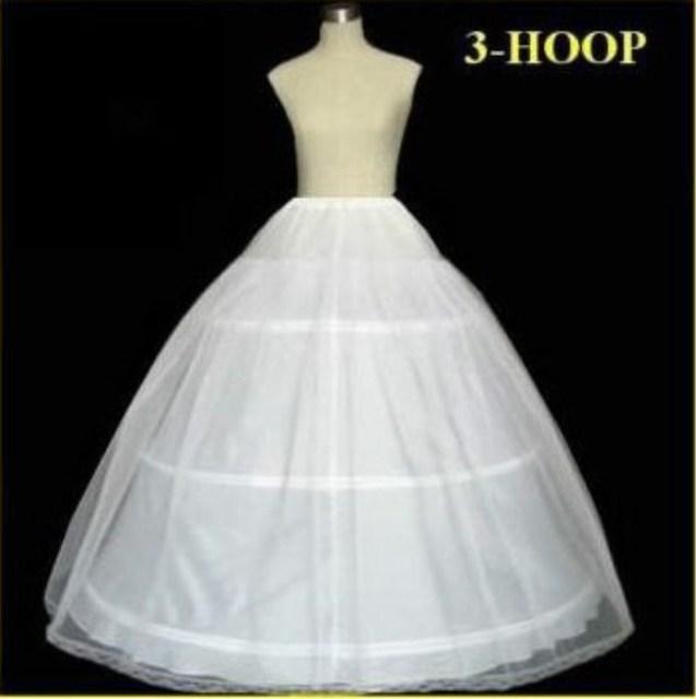 Accesorios de Boda de La venta Caliente de La Muestra verdadera 3 ARO Balón vestido Hueso Completo Crinoline Enaguas para los Vestidos De Boda de La Boda Falda Slip