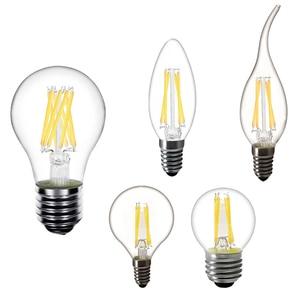 E14 LED Candle Bulb E14 C35 Filament Light ST64 E27 LED Lamp Replace 25w 40w 50w Incandescent LED Bulb E27 220V A60 bombilla(China)