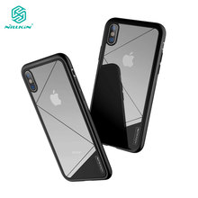 sfor iPhone X Cover Nillkin Tempered Glass Combine PC Nature TPU Phone Case for iPhone X Clear Luxury 5.8 inch