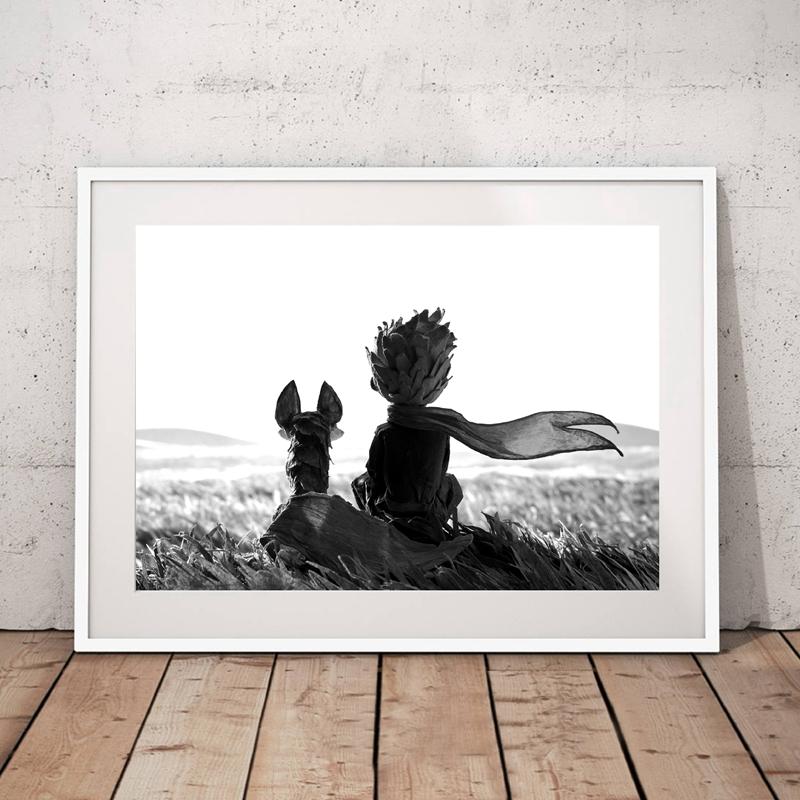 Der Kleine Prinz und Fuchs Leinwand Kunstdruck Wand Bilder, der ...