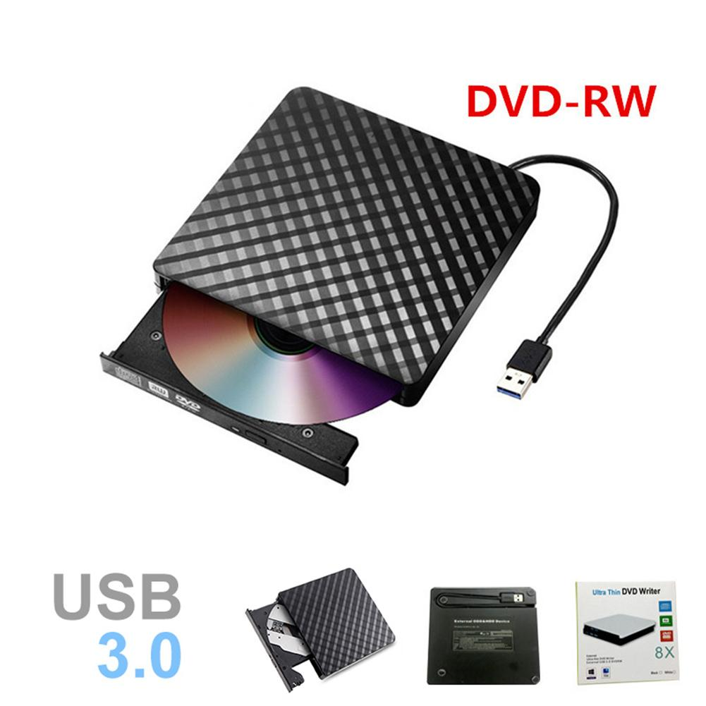 Plaid Slim USB 3.0 External Optical Drive CD/DVD RW ROM Player Burner Reader-in Optical Drives from Computer & Office
