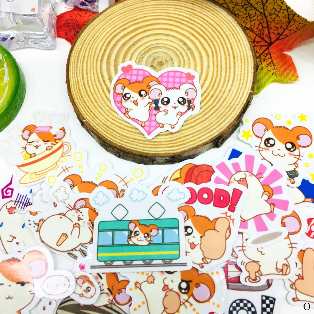 40 Pcs Anime Cute Mouse Cartoon Sticker Waterproof For Book Laptop Moto Skateboard Luggage Guitar Furnitur Decal Toy Stickers