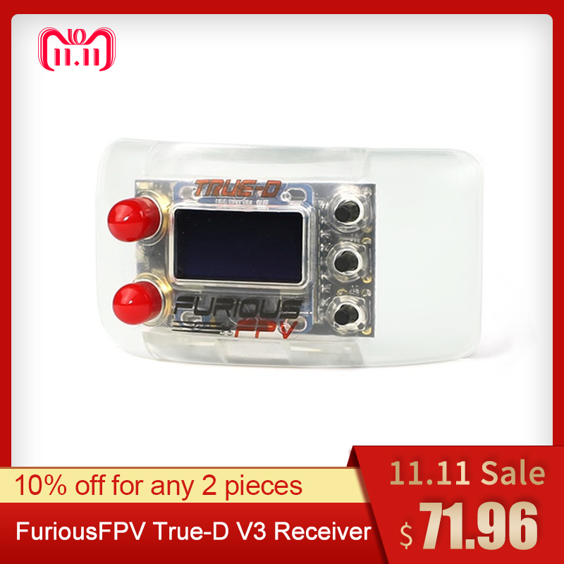 FuriousFPV True-D V3.6 5.8G 40CH Diversity Receiver System For Fatshark Dominator Goggles RC Drone FPV Racing Spare Parts цены