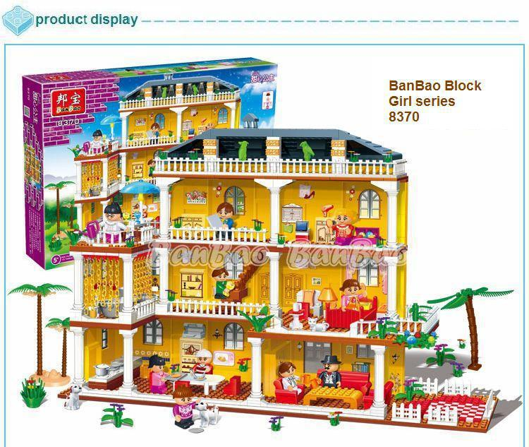 Lego Toys For Girls : Learning education banbao girl series creative