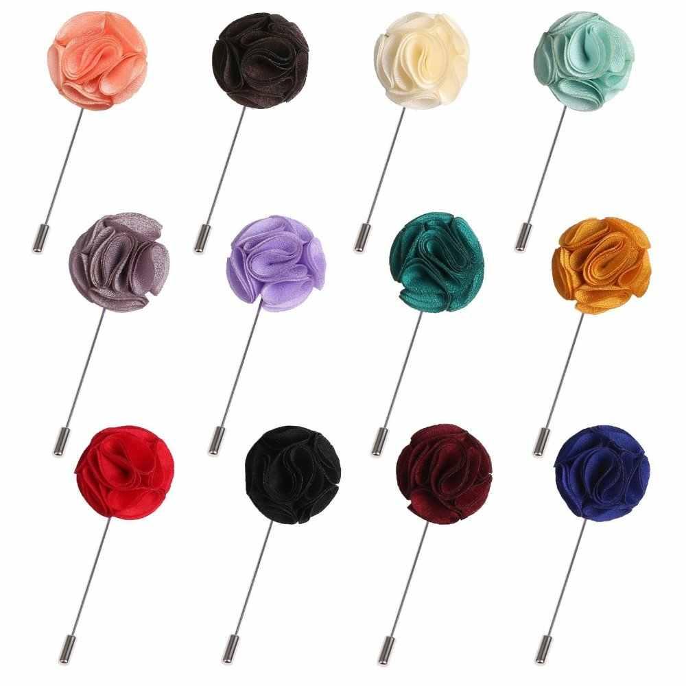 Buatan Tangan Pria Kerah Bunga Pin Lapel Stick Pins Pernikahan Bisnis Sesuai dengan Dekorasi Boutonniere Korsase Bros Buket Hadiah