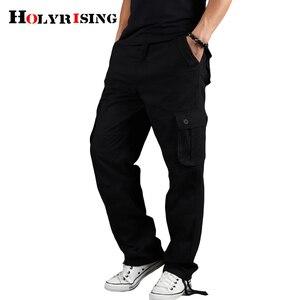 Image 4 - Holyrising メンズカーゴパンツカジュアルズボン綿ズボンマルチポケット戦術的なパンツ男性迷彩綿 90% パンツ 18671
