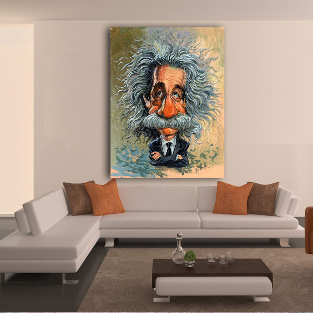 JQHYART Wandkunst Bild Home Decor Wohnzimmer Albert Einstein Kunst ...