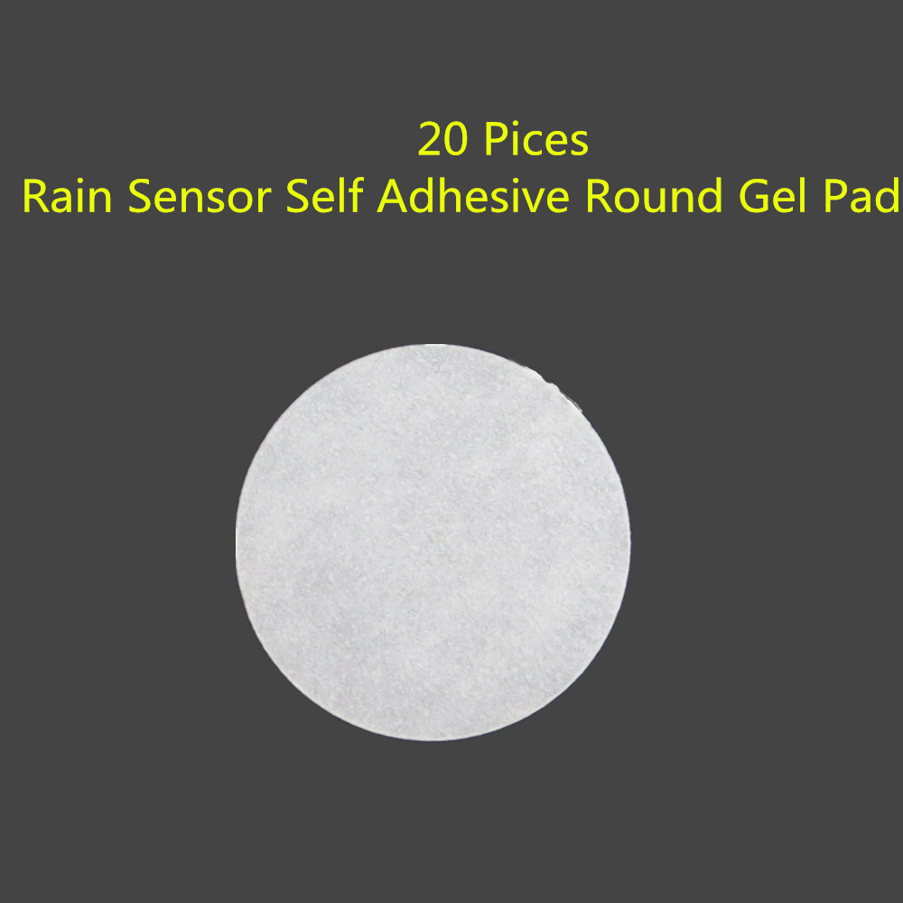20P Front Windshield Rain Sensor Car Glass Glue Stickers Self Adhesive Round Gel Pad Fit F02