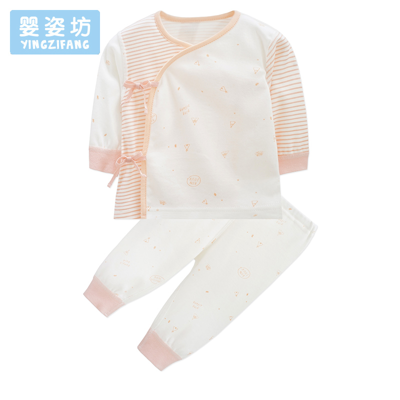 Fashion Infantil Girls Clothes Set Autumn Newborn Clothing Striped Printing Long Sleeve Baby Costume Cute Cotton Suit Clothes