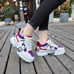 Image 4 - Lucyever 2019 nowa wiosna kobiety obuwie damskie trwała platforma zasznurować futro obuwie studenckie buty szkolne Zapotos Mujer
