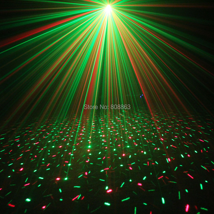 ESHINY MINI Small R&G Laser Full stars Projector DJ Dance Disco Bar Family Party Xmas Effect Stage Effect Light Show Y10 2