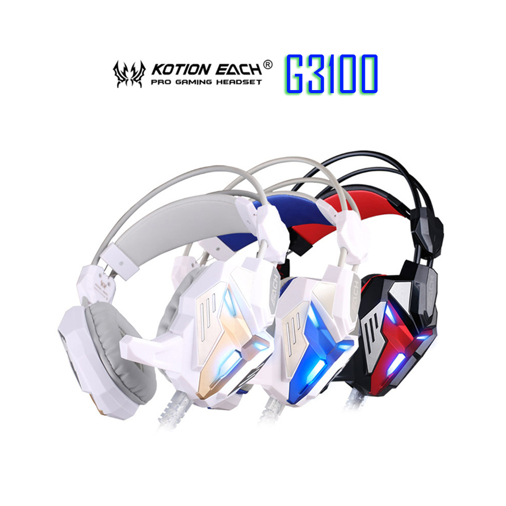 EACH G3100 Vibration Function Pro Gaming Headphone Games Headset with Mic Stereo Bass LED Light for PC Gamer виктория левина дом в деревне