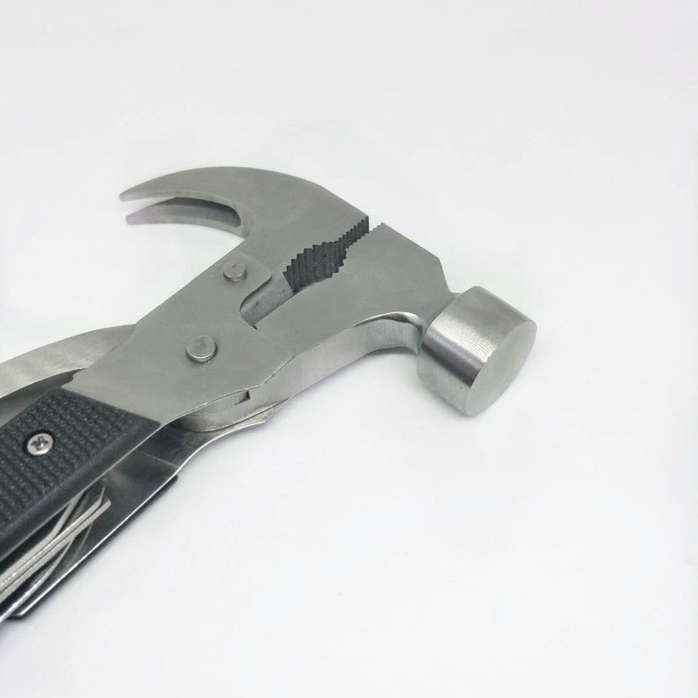 TAC TOOL Stainless Steel 18-in-1 Multitool Portable Multitool Multifunctional Pocket Mini Tools Axe Hammer Plier Set
