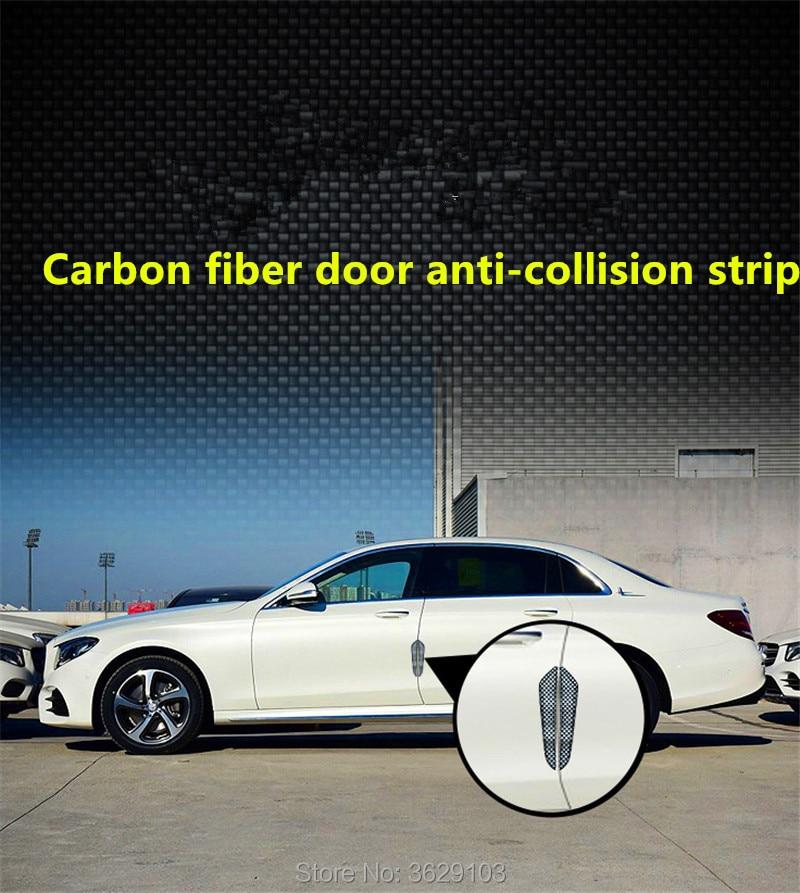 4PCS Car door protection carbon fiber scratch rubber stickers car-styling for Cadillac srx cts ats escalade sts dts bls