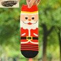 Mujeres Soft Calcetines de Invierno Cálido calcetines de Algodón Suave Lindo de Papá Noel Muñeco de Nieve Ciervos de Navidad Forma Fiesta de navidad Accesorios