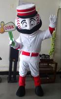 OISK Custom Baseball Sport Mascot Costume Plush Cartoon Character Costumes Outfits Halloween Christmas Fancy Dress