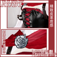 Hot Anime Season 4 Ruby Red Rose Cosplay Costume Dress For Christmas Women Dress Skirt Suits