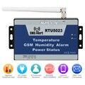 Umidade Ambiente De Temperatura GSM Alarme SMS de Alerta Relatório APP Controle Com Sensor de Monitoramento Remoto de Energia DC Temporizador RTU5023