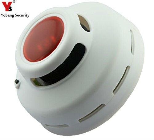 YobangSecurity Independant Smoke Alarm smoke detector alarm Photoelectric Sensor Detects Flaming Fires Hazard Aa Battery Powered