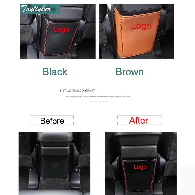 Tonlinker Interior Reposabrazos Trasero Anti-sucio cubierta pegatinas - Accesorios de interior de coche