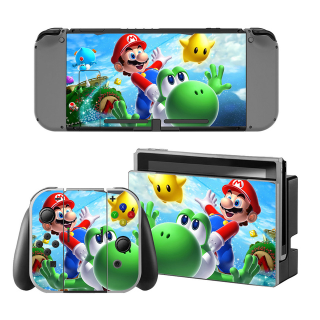 Mario Vinyl Skin Sticker for Switch Console Protector Cover Decal Vinyl Skin for Skins Stickers 4