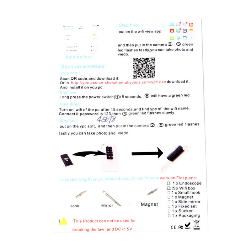 Iphone Endoscope HD 8mm WiFi Endoscope 3.5M Waterproof Inspection -1