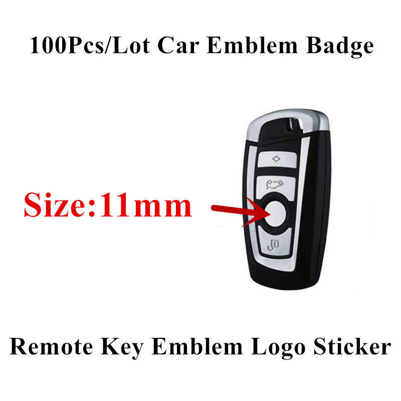 100PCS 11mm Remote Key Emblem Logo Sticker Replacement for BMW E46 E39 E38 E90 E60 E36 F30 F30 E34 F10 F20 E92 E38 E91 E53 X3 X5 image